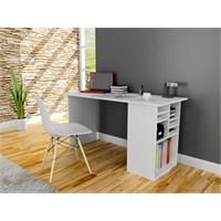 Akasya Bilgisayar ve Çalışma Masası - Beyaz
