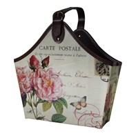 Gazetelik Tek Saplı Carte Postale Pembe Çiçekli (35*19*43)