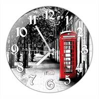 İf Clock Telefon Kulübesi Duvar Saati
