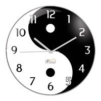 İf Clock Ying Yang Denge Duvar Saati