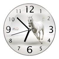 İf Clock Beyaz At Duvar Saati