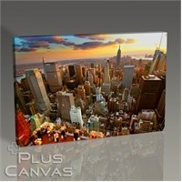 Pluscanvas - New York - At Sunset Tablo