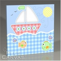 Pluscanvas - Baby Boat Tablo