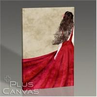 Pluscanvas - Red Dress Tablo