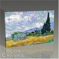 Pluscanvas - Vincent Van Gogh - Oat Field With Cypress Tablo