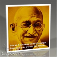 Pluscanvas - Gandhi - Live And Learn Tablo