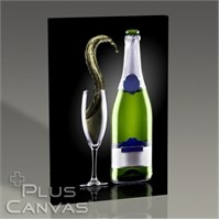 Pluscanvas - Champagne Wave Tablo