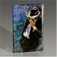 Pluscanvas - Man With Cigarette Tablo
