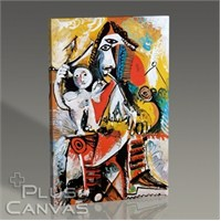 Pluscanvas - Pablo Picasso - Musketeer And Cupid Tablo