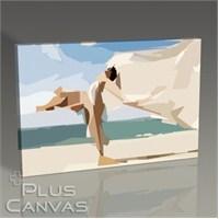 Pluscanvas - Woman On The Beach Tablo