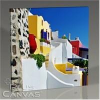 Pluscanvas - Santorini - Yunanistan Renkleri Iıı Tablo