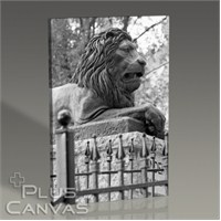 Pluscanvas - Lion Sculpture Tablo