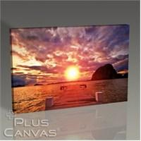 Pluscanvas - Sunset Over Scaffold Tablo