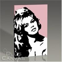 Pluscanvas - Brigitte Bardot - Pink Tablo