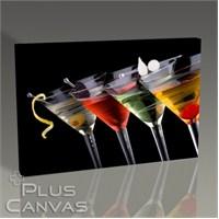 Pluscanvas - Dört Renk Kokteyl Tablo