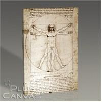 Pluscanvas - Leonardo Da Vinci - The Vitruvian Man 1498 Tablo