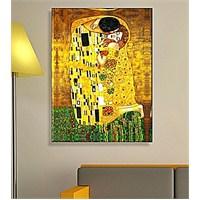 Gustav Klimtthe Kiss Dekoratif Kanvas Tablo