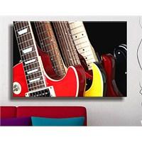Gitar Dekoratif Kanvas Tablo