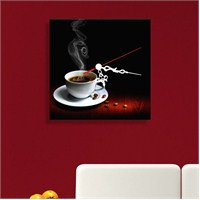 Kahve Tablo Saat