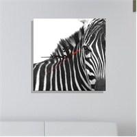 Kanvas Saat Zebra