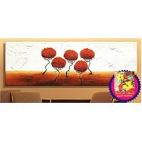 Çiçek Kanvas Tablo (Saat HEDİYE)