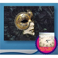 Arte Carnival Mask Kanvas Tablo
