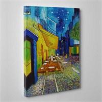 Tabloshop - Van Gogh - Terrasse De Cafe Canvas Tablo - 75X50cm