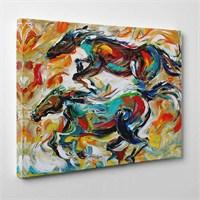 Tabloshop - Atlar Yağlıboya Reprodüksiyon Canvas Tablo - 75X50cm