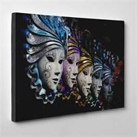 Tabloshop - Venetian Masks Iı Canvas Tablo - 75X50cm