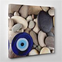 Tabloshop - Nazar Boncuğu Taşlar Canvas Tablo - 60X60cm
