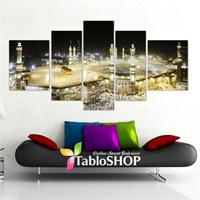 Tabloshop - Mekke 5 Parçalı Canvas Tablo 180X90cm