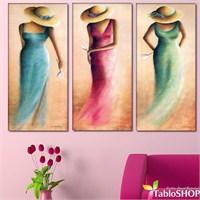 Tabloshop - Les Femmes 3 Parçalı Kanvas Tablo 111X75cm