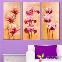 Tabloshop - Fleurs Fascinantes 3 Parçalı Kanvas Tablo 111X75cm