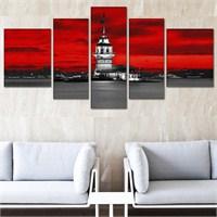 Tabloshop - Kız Kulesi 5 Parçalı Canvas Tablo 180X90cm