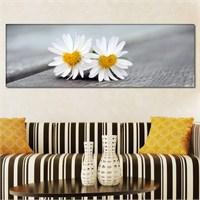 Tabloshop - Black Daisy Iı Canvas Tablo - 90X30cm