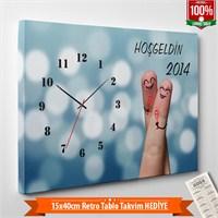 Tabloshop - Yılbaşı Özel Saat - Yb-01 - 45X30cm - Takvim Hediye
