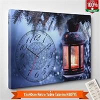 Tabloshop - Yılbaşı Özel Saat - Yb-02 - 45X30cm - Takvim Hediye