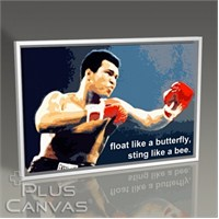 Pluscanvas - Muhammad Ali - Sting Like A Bee Tablo