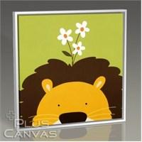 Pluscanvas - Lion And The Daisy Tablo
