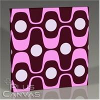 Pluscanvas - Wavy Pink Tablo