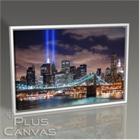 Pluscanvas - New York - Brooklyn Köpsüsü Gece Manzara Tablo