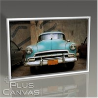 Pluscanvas - Classical Blue Car Tablo