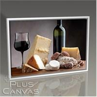 Pluscanvas - Cheese Platter And Wine Tablo