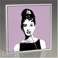 Pluscanvas - Audrey Hepburn - Purple Tablo
