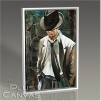 Pluscanvas - Man With Hat Tablo