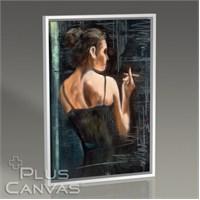 Pluscanvas - Girl With Cigarette Tablo