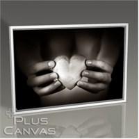 Pluscanvas - Heart Shaped Pebble Tablo