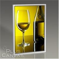 Pluscanvas - White Wine Over Yellow Wall Tablo