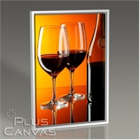 Pluscanvas - Red Wine Over Orange Wall Tablo