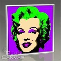 Pluscanvas - Andy Warhol - Marilyn İn Purple Tablo